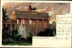 Künstler Litho Kley, Heinrich, Berlin Mitte, Brandenburger Tor