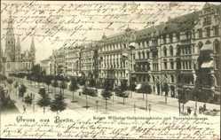 Postcard Berlin Charlottenburg, Kaiser Wilhelm Gedächtniskirche, Tauentzienstraße
