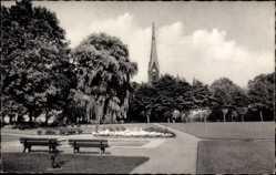Postcard Holzwickede im Ruhgebiet Nordrhein Westfalen, Anlage mit evangelischer Kirche