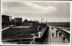 Ak Norderney in Ostfriesland, Strandpromenade mit Tennisplätzen