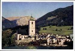 Postcard St. Wolfgang Oberösterreich, Salzkammergut, Kirche, Gebirge