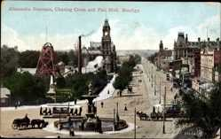 Postcard Bendigo Australien, Alexandra Fountain, Charing Cross, Pall Mall