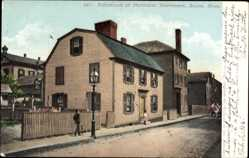Postcard Salem Massachusetts USA, Birthplace of Nathaniel Hawthorne