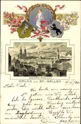 Präge Litho Sankt Gallen Stadt Schweiz, Generalansicht
