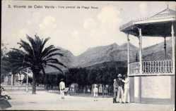 Postcard San Vicente de Cabo Verde Kap Verde, Vista parcial da Praca Nova