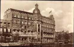Postcard Amsterdam Nordholland Niederlande, Doelen Hotel, Wasserblick