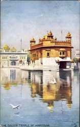 Künstler Ak Amritsar Indien, The Golden Temple, Goldener Tempel, Tuck 9311