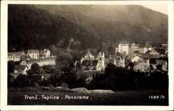 Foto Ak Trenčianske Teplice Trentschin Teplitz Slowakei, Totalansicht,Ort,Kirche
