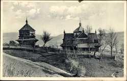 Postcard Jassinja Jasina Ukraine, Crkves, Templom, Russ. Kirchen