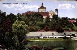 Postcard Pardubice Pardubitz Stadt, Zamek, Wäscheleinen, Schloss