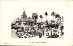 Postcard Kolkata Kalkutta Indien, The Jain Temple, Tempelanlagen