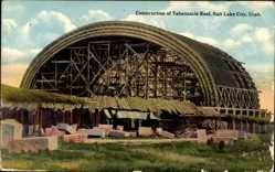 Ak Salt Lake City Utah USA, Construction of Tabernacle Roof, Mormonen