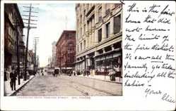 Postcard Baltimore Maryland USA, Lexington near Howard Street, shops, pedestrians