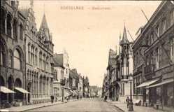 Postcard Roeselare Westflandern, Ooststraat, Straßenansicht, Geschäfte