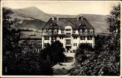 Postcard Kowary Schmiedeberg Riesengebirge Schlesien, Eisenbahn Erholungsheim