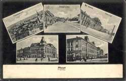 Postcard Prerau Prerov Reg. Olmütz, Zerotinplatz, Bahnhof, Totale, Straße