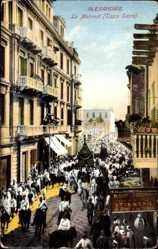 Postcard Alexandria Ägypten, Le Mahmal, Tapis Sacre, Festumzug, Heiliger Teppich