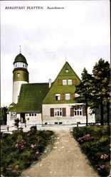 Postcard Horní Blatná Bergstadt Platten Region Karlsbad, Aussichtsturm