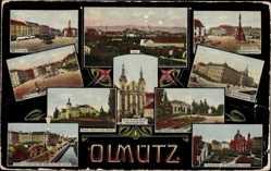 Postcard Olomouc Olmütz Stadt, Marie Schnee Kirche, Justizpalast, Kloster Hradisch