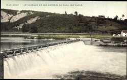 Postcard Waulsort Namur Wallonien, Le Barrage et les Rochers de Fond des Vaulx