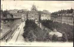 Ak Paris Frankreich, Le square d' Anvers, Grünanlage