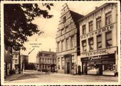 Postcard Gent Ostflandern, Tea room Jacobs, Groenselmarkt 17, Marché aux Légumes