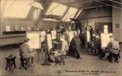 Postcard Anhée Wallonien Namur, Maredsous Ecole St. Joseph, Métiers d'Art, Dessin