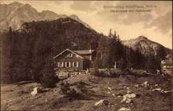 Postcard Großherzog Adolfhaus, Vereinsalpe mit Karwendel