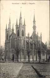 Postcard Gaverland Ostflandern Belgien, Kapel, Chapelle, Blick auf Kirche