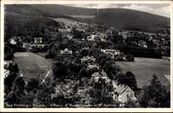 Ak Świeradów Zdrój Bad Flinsberg Schlesien, Villen an der Brunnenstraße, Kurhaus