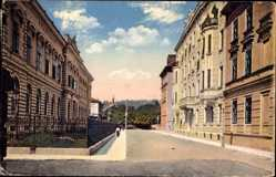 Postcard Ljubljana Laibach Slowenien, Straßenpartie im Ort, Häuser, Fassaden