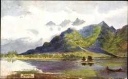 Künstler Ak Kaschmir Indien, The Dhal Lake, Gebirge, See, Tuck 7089