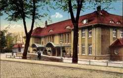 Postcard Bad Oeynhausen in Nordrhein Westfalen, Blick auf den neuen Bahnhof