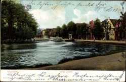 Postcard Maarsen Utrecht Niederlande, Lange gracht, Salondampfer, Flusspartie