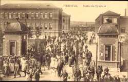 Ak Herstal Wallonien Lüttich, Sortie du Syndicat, Arbeiter, Fabrikgelände