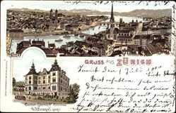 Litho Zürich Stadt Schweiz, Casino Zürich IV Röslibad, G. A. Hempel