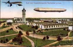 Postcard Świętoszów Neuhammer Queis Schlesien, Truppenübungsplatz, Zeppelin