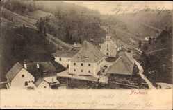 Postcard Neuhaus Wienerwald Niederösterreich, Blick auf den Ort, Kirche