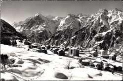 Postcard Grächen Kt. Wallis Schweiz, Blick auf den Ort, Weisshorn, Brunegghorn,Bishorn