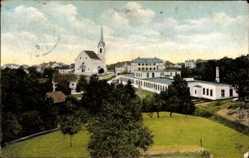Postcard Goldach Kt. St. Gallen Schweiz, Blick auf den Ort, Kirche, Häuser