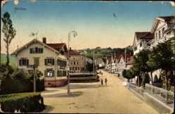 Postcard Heiden Kt. Appenzell Außerrhoden Schweiz, Straßenpartie im Ort, Häuser