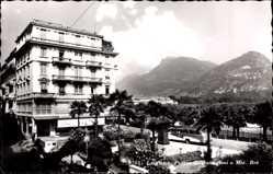 Postcard Lugano Kt. Tessin Schweiz, Piazza C. Battaglini e Monte Bre