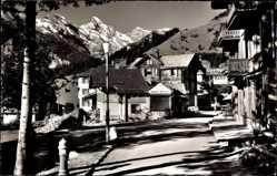 Postcard Mürren Kt. Bern Schweiz, Dorfstraße, Tschingelgrat, Büttlassen, Gspaltenhorn