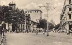 Ak Colombo Ceylon Sri Lanka, Prince Street, pedestrians, Tuck 6