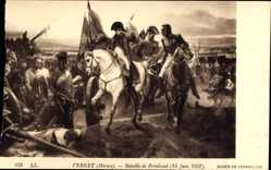 Künstler Ak Vernet, Horace, bataille de Friedland 14 Juin 1807, Napoleon