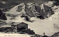 Postcard Pontresina Kt. Graubünden Schweiz, Diavolezza und Piz Palü