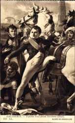 Künstler Ak Gautherot, Napoleon blesse devant Ratisbonne, detail