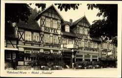 Postcard Rübeland Oberharz am Brocken, Blick auf das Hotel Bodetal, Fassade