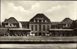 Postcard Halberstadt in Sachsen Anhalt, Käthe Kollwitz Oberschule, Jugendsportschule