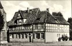 Postcard Halberstadt in Sachsen Anhalt, Blick auf das Gleimhaus, Bibliothek